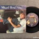 Discos de vinilo: MIGUEL BOSÉ. ANNA- EL JUEGO DEL AMOR. CBS (A.1978). Lote 162613593