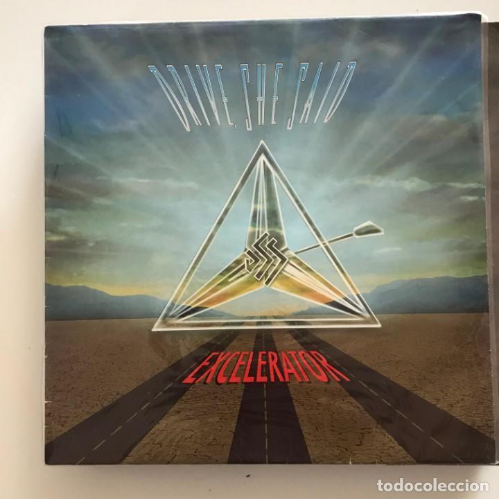 DRIVE, SHE SAID - EXCELERATOR - LP MUSIC FOR NATIONS UK 1993 (Música - Discos - LP Vinilo - Heavy - Metal)