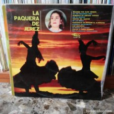 Discos de vinilo: LP DISCO VINILO LA PAQUERA DE JEREZ. Lote 162627226