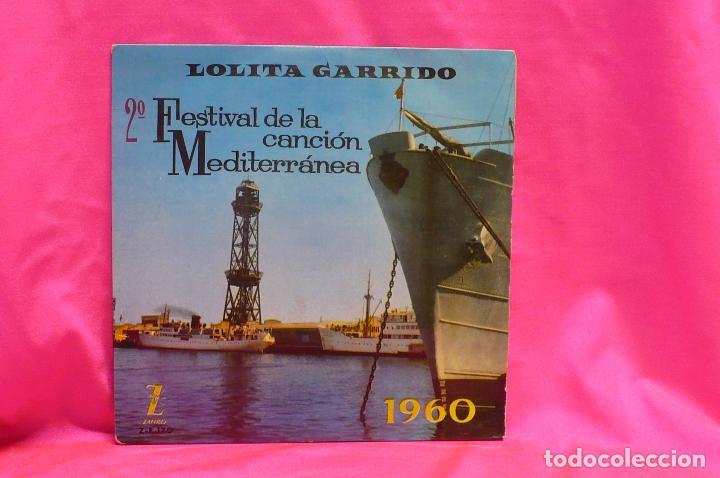 2º FESTIVAL DE LA CANCIÓN MEDITERRÁNEA, 1960, LOLITA GARRIDO, S.O.S.AMOR, OSCURA, CIAO CIAO MI AMOR (Música - Discos de Vinilo - EPs - Otros Festivales de la Canción)