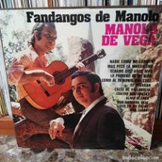 Discos de vinilo: LP DISCO VINILO MANOLO DE VEGA FANDANGOS. Lote 162630174
