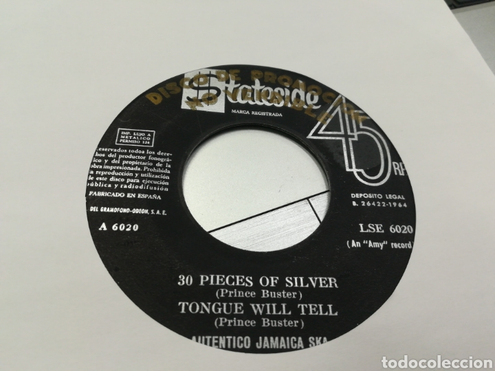 PRINCE BUSTER EP PROMOCIONAL AUTÉNTICO JAMAICA SKA 4 TEMAS ESPAÑA 1964 (Música - Discos de Vinilo - EPs - Reggae - Ska)