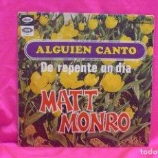 Discos de vinilo: MATT MONRO, ALGUIEN CANTO, DE REPENTE UN DÍA, CAPITOL. 1968.. Lote 162637242