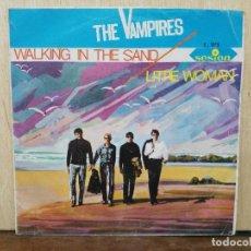 Discos de vinilo: THE VAMPIRES - LITTLE WOMAN, WALKING IN THE SAND - SINGLE DEL SELLO SESION 1966. Lote 162673574