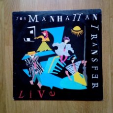 Discos de vinilo: THE MANHATTAN TRANSFER - LIVE, ATLANTIC, 1987. SPAIN.. Lote 162679244