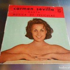 Discos de vinilo: CARMEN SEVILLA, EP, TARANTELA SEVILLANA + 3, AÑO 1958. Lote 162740330