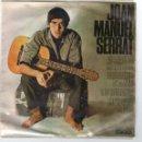 Discos de vinilo: SINGLE - JOAN MANUEL SERRAT - CANÇÓ DE MATINADA - PARAULES D'AMOR - EDIGSA - AÑO 1966.. Lote 162761594