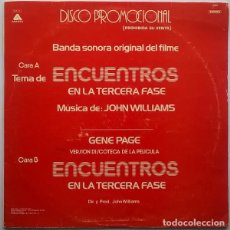 Discos de vinilo: JOHN WILLIAMS/GENE PAGE – ENCUENTROS EN LA TERCERA FASE - MAXI-SINGLE SPAIN ARISTA 1978. Lote 162795110