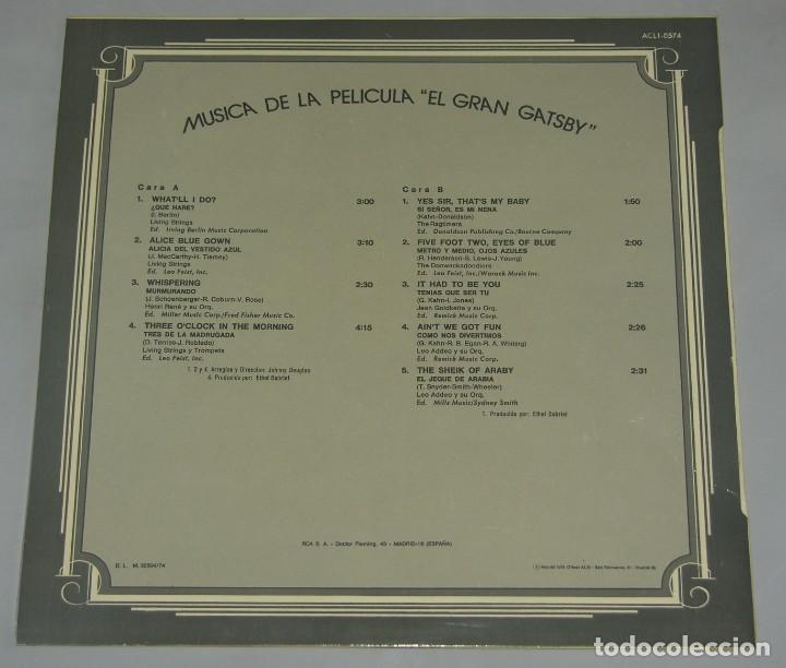 Discos de vinilo: EL GRAN GATSBY- THE GREAT GATSBY LP 1974 BANDA SONORA - Foto 2 - 162866986