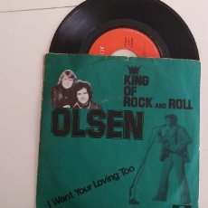 Discos de vinilo: OLSEN-SINGLE KING OF ROCK AND ROLL. Lote 162888162