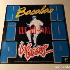 Discos de vinilo: LAS VEGAS QUE NO PARE - HIP HOP BACALAO MAXI-SINGLE PROMO 1988. Lote 183746095