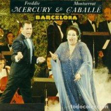 Discos de vinilo: FREDDIE MERCURY Y MONTSERRAT CABALLÉ - BARCELONA - MAXI-SINGLE SPAIN 1987. Lote 162916026
