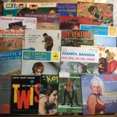 Discos de vinilo: LOTE 22 VINILOS 7 PULGADAS - 45 RPM - AÑOS 60. Lote 162931846