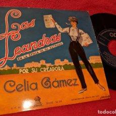 Discos de vinilo: CELIA GAMEZ LAS LEANDRAS.CHOTIS DEL PICHI/DUO HABANERA +2 EP 195? ODEON ESPAÑA SPAIN. Lote 162943302