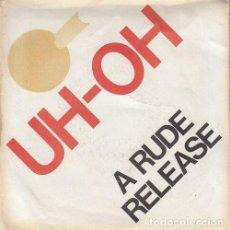 Discos de vinilo: CELLS - UH OH - SINGLE DE VINILO ROJO EDICION USA. Lote 162951910