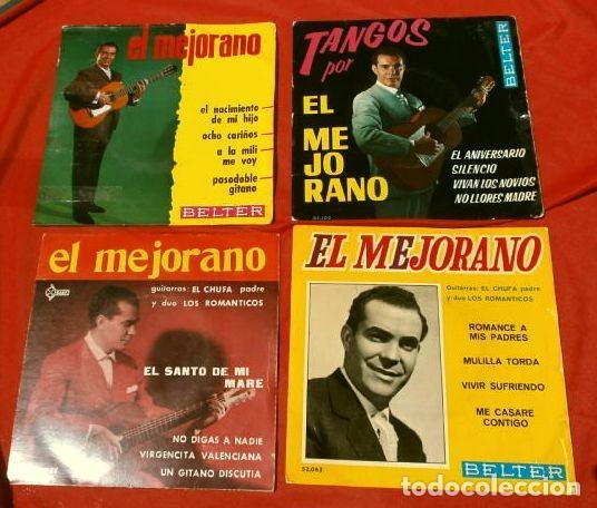 EL MEJORANO (LOTE 4 EPS 1962-64) TANGOS, EL NACIMIENTO DE MI HIJO, ROMANCES A MIS PADRES (16 TEMAS) (Música - Discos de Vinilo - EPs - Flamenco, Canción española y Cuplé)
