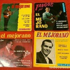 Discos de vinilo: EL MEJORANO (LOTE 4 EPS 1962-64) TANGOS, EL NACIMIENTO DE MI HIJO, ROMANCES A MIS PADRES (16 TEMAS). Lote 162960814