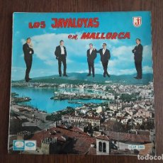 Discos de vinilo: DISCO VINILO LP LOS JAVALOYAS EN MALLORCA, EMI LCLP 240 AÑO 1965. Lote 162968534
