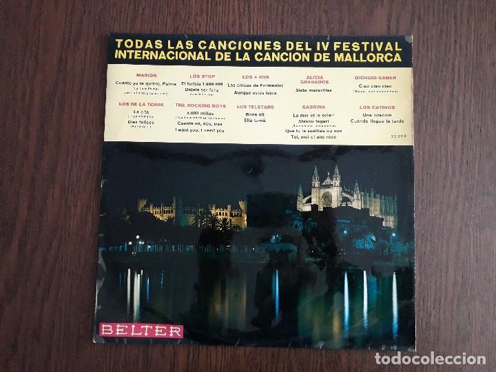 DISCO VINILO LP TODAS LAS CANCIONES IV FESTIVAL INTERNACIONAL CANCIÓN EN MALLORCA, BELTER AÑO 1967 (Música - Discos - LP Vinilo - Otros Festivales de la Canción)