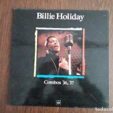 Discos de vinilo: DISCO VINILO LP BILLIE HOLIDAY, MAESTROS DEL JAZZ, COMBOS 36,37. Lote 162969982