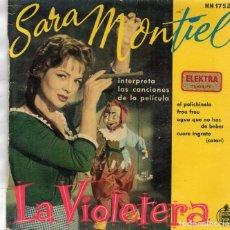 Discos de vinilo: EP . HISPAVOX HH1752 - LA VIOLETERA.- SARA MONTIEL. Lote 162980330
