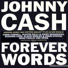 Discos de vinilo: 2LP VARIOUS – JOHNNY CASH: FOREVER WORDS. Lote 162997258