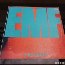 Discos de vinilo: MAXI SINGLE. EMF. I BELIEVE. 1991, ESPAÑA.. Lote 163023286