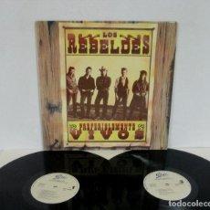 Discos de vinilo: LOS REBELDES - PREFERIBLEMENTE VIVOS - 2 LP - EPIC 1987 SPAIN. Lote 163034726