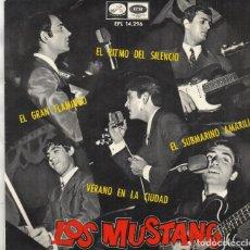 Discos de vinilo: EP 1966 - LOS MUSTANG - EL RITMO DEL SILENCIO + EL SUBMARINO AMARILLO + 2. Lote 163041862