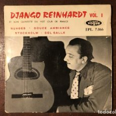 Discos de vinilo: DJANGO REINHARDT ET SON QUINTETTE DU HOT CLUB DE FRANCE ?– VOL. 1 SELLO: DISQUES VOGUE ?– EPL 7 066. Lote 163044366