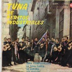Discos de vinilo: X- EP 1962 - TUNA DE PERITOS INDUSTRIALES - LA AURORA +LOS GALLOS + 2. Lote 163045338