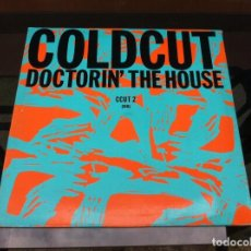 Discos de vinilo: MAXI SINGLE. COLDCUT FEATURING YAZZ AND THE PLASTIC PEOPLE. DOCTORIN' THE HOUSE. 1988, ESPAÑA. Lote 163075482