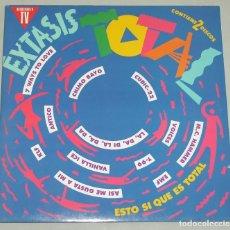 Discos de vinilo: EXTASIS TOTAL ( CHIMO BAYO DE LA SOUL MEGABEAT ANTICO KLF MAKINA TECHNO DANCE DISCO ) 2XLP. Lote 163076246