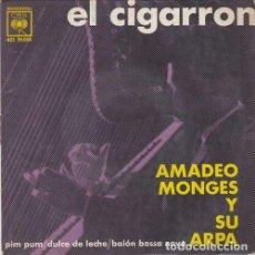 Discos de vinilo: AMADEO MONGES Y SU ARPA - EL CIGARRON - EP EDICION ESPAÑOLA. Lote 163127594