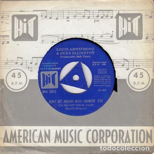 LOUIS ARMSTRONG Y DUKE ELLINGTON - IN MY SOLITUDE - SINGLE EDICION ESPAÑOLA (Música - Discos - Singles Vinilo - Jazz, Jazz-Rock, Blues y R&B)