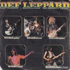 Discos de vinilo: DEF LEPPARD - WASTED - SINGLE DE VINILO EDICION ESPAÑOLA. Lote 163130810