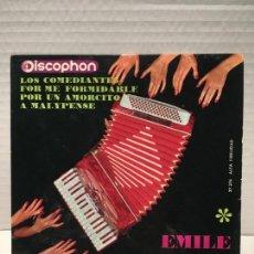 Discos de vinilo: SINGLE DE EMILE PRUD HOMME AÑOS 60. Lote 163184834