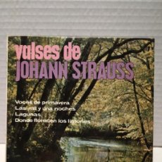 Discos de vinilo: SINGLE DE JOHANN STRAUSS AÑOS 60. Lote 163190602