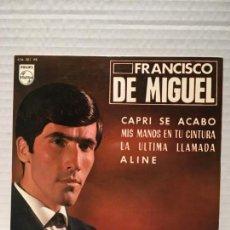 Discos de vinilo: SINGLE DE FRANCISCO DE MIGUEL AÑOS 60. Lote 163193646