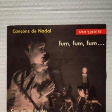 Discos de vinilo: SINGLE DE CORS DE LES ESCOLES - CANCONS DE NADAL. Lote 163220798