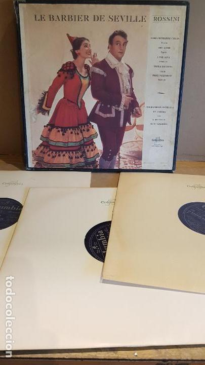 CAJA-ÁLBUM / LE BARBIER DE SEVILLE - ROSSINI / PHILHARMONIA ORCHESTRA ET CHOEURS / LEER. (Música - Discos - LP Vinilo - Clásica, Ópera, Zarzuela y Marchas)