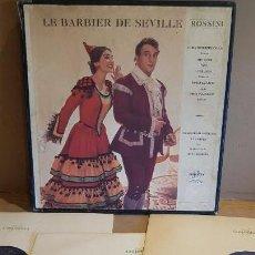 Discos de vinilo: CAJA-ÁLBUM / LE BARBIER DE SEVILLE - ROSSINI / PHILHARMONIA ORCHESTRA ET CHOEURS / LEER.. Lote 163314838