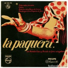 Dischi in vinile: LA PAQUERA. ESTA RUBIA PANAERA. CELOSA. BULERÍAS DE LA PLAZA + 2 - EP 1960 - DISCO VERDE. Lote 163322910