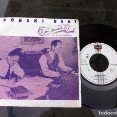 Discos de vinilo: SINGLE. BRONSKI BEAT. NO NECESARIAMENTE - CLOSE TO THE EDGE. 1984. Lote 163345482