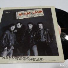 Discos de vinilo: MERMELADA RECOMENDABLE LP 1985. Lote 163353618