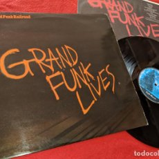 Discos de vinilo: GRAND FUNK RAILROAD GRAND FUNK LIVES LP 1981 FULL MOON SPAIN ESPAÑA. Lote 163355850