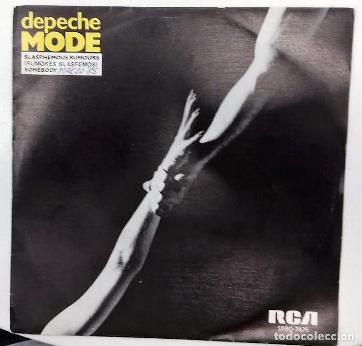 DEPECHE MODE - BLASPHEMOUS RUMOURS / SOMEBODY SG PROMO ED. ESPAÑOLA 1984 (Música - Discos - Singles Vinilo - Electrónica, Avantgarde y Experimental)