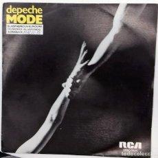 Discos de vinilo: DEPECHE MODE - BLASPHEMOUS RUMOURS / SOMEBODY SG PROMO ED. ESPAÑOLA 1984. Lote 163363050