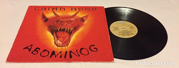 Uriah Heep Abominog Lp 1982 Espana Muy Rar Sold At Auction 163365853