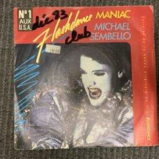 Discos de vinilo: MICHAEL SEMBELLO ?– MANIAC SELLO: CASABLANCA ?– 812 516-7 FORMATO: VINYL, 7 , 45 RPM, SINGLE . Lote 163365978